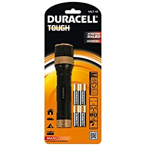 Duracell Tough Multi-Beam 3 LED Torch with 4 AA Batteries -  MLT-10