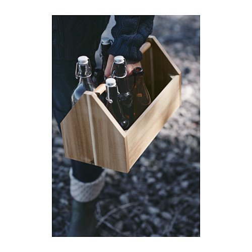 Boîte en bois d'acacia avec poignée –