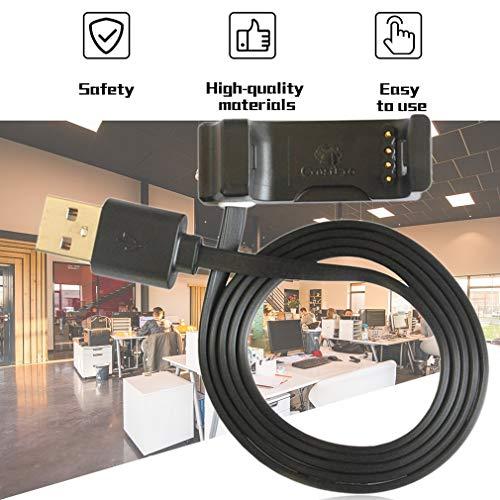 Leoboone USB-Ladestation ersetzen Ladestation Ladegerät Adapter für Garmin Vivoactive HR Smart Watch Support-Daten - Support Watch