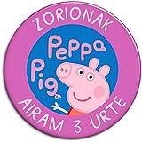 CHAPA personalizada, 77 mm, diseño de Peppa Pig