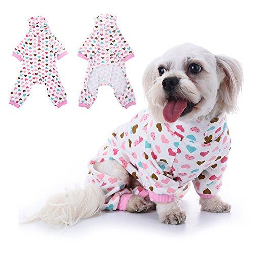 WIDEN Haustier Hund Katze Baumwolle Pyjamas Freizeit Haustier Overall mit Liebe-Herz - Billig Disney Kostüm