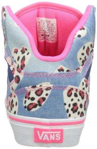 Vans Z Allred, Baskets mode filles Multicolore (Cheetah Denim)
