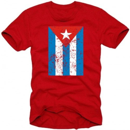"Coole Fun T-shirts-Maglietta da uomo ""Cuba-Cuba Libre Vintage, rot, XL"