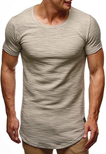 LEIF NELSON Herren oversize T-Shirt Hoodie Sweatshirt Rundhals Ausschnitt Kurzarm Longsleeve Top Basic Shirt Crew Neck Vintage Sweatshirt LN6324 Signalgrau