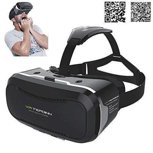 3D VR Brille Headset mit verstellbarem Objektiv und Strap für 3,5–14Smart Handys Upgraded...