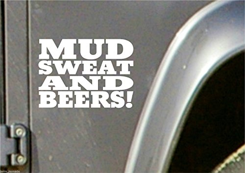MUD SWEAT BEER STICKER, LAND ROVER, 4x4 Off Road, Funny, Novelty GAS MONKEY (Gas-offroad)