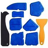 Kuuqa 9 Stücke Werkzeug Schaber Kit Fugenglätter Set für Badezimmer Küche Raum und Rahmen
