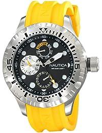 Nautica Herren-Armbanduhr Analog Quarz Silikon N15107G
