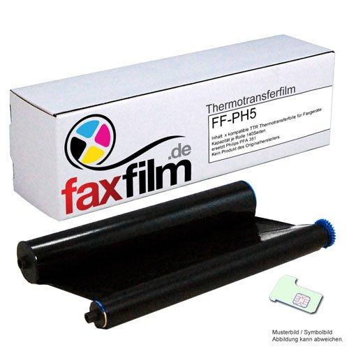 Preisvergleich Produktbild FAXFILM kompatibler Ink-Film ersetzt Philips PFA351 / PFA-351 / PFA 351 / PFA352 / PFA-352 / PFA 352 / geeignet für Philips Faxgerät Magic 5 / 5 Basic / 5 Eco / 5 Voice / PPF 631 / 632 / 636 / 650 / 675 / 676 / 685 / 695 / PPF620E / PPF650E / PPF685E / PPF631E Kapazität 140 Seiten