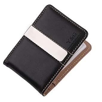 YCC1002 Brown Black Mens Wallet Excellent Fantastic Money Clip 15 Card Holder Xmas Present Suppliers Presents Idea By Y&G