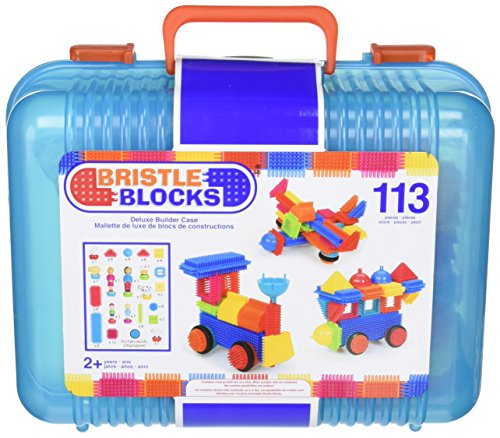 bristle-block-113-piece-deluxe-builder-case-with-family-and-animal-figurines