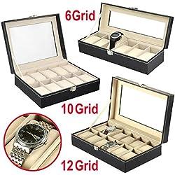 YaheeUhrenbox Uhrenkasten Uhrenschatulle Uhrenvitrine Uhrenkoffer Schaukasten