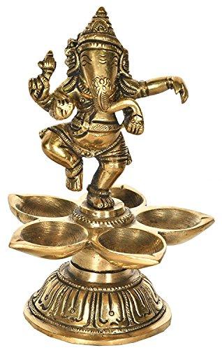 Exotic India Nritya Ganesha Ritual Lampe, gelb