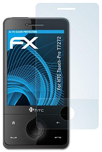 HTC Touch-Pro T7272 Schutzfolie - 3er Set atFoliX FX-Clear kristallklare Folie Displayschutzfolie