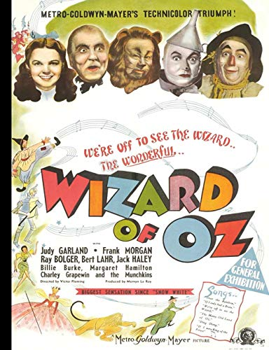 Wizard of Oz: Vintage Movie Poster Notebook | Journal | School Notebook | College Ruled Paper -- 200 Pages/100 Sheets (Wizard Of Oz The Lion)