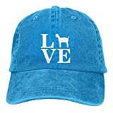 Barnyard Farm Animal, Love Goats Adjustable Baseball Caps Denim Hats Cowboy Sport Outdoor