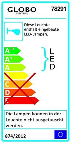 Erstrangige 6W LED Wand Leuchte Lampe Küche Glas Bronze EEk A Globo RANDI 78291