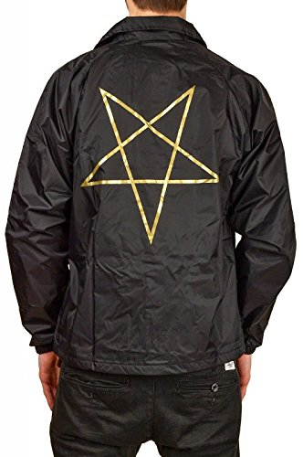 CHAQUETA THRASHER PENTAGRAM COACH BLACK - M