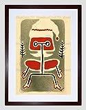 DRAWING EAMES CHAIR MODERN FURNITURE CHRISTMAS CARD FRAMED ART PRINT B12X9780