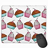 Mouse Pad Cake And Cupcake Bakery Kitchen Non Slip Rubber With Stitched Edge Base Mousepad 25 X 30 CM