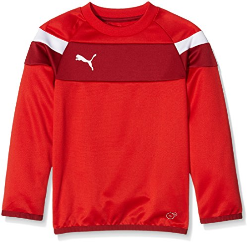 PUMA Kinder Sweatshirt Spirit II Training Sweat, red-white, 152, 654656 01