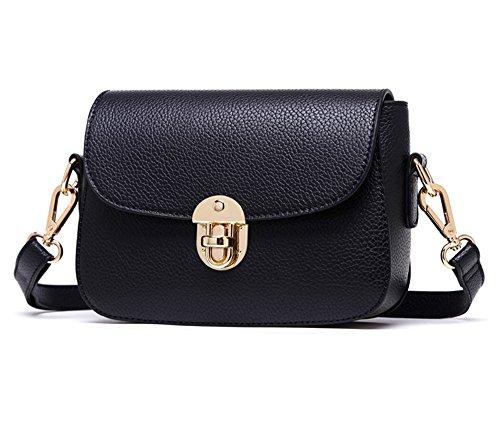 Borsa estiva, versione coreana di borsa a tracolla, zainetto obliqua mini, borse, semplice borsa quadrata selvaggia ( Colore : Blu zaffiro ) Nero