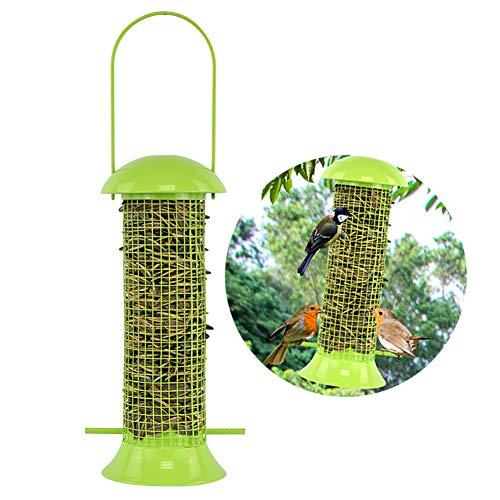 DJLOOKK Vogelfutterspender Grüne Outdoor Vogelhäuschen Vogelkäfig Feeder Love Bird Automatische Feeder Pigeon Papagei Vogelbedarf
