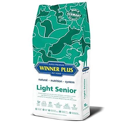 WINNER PLUS Light Senior 18 kg – Alimento leggero per cani poco attivi, sterilizzati, in sovrappeso o anziani