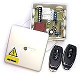 Set 2x Handsender 2 Kanal Empfänger ST100HU für Torantrieb / Garagenantrieb / Tor / Garage / Torsteuerung / Garagensteuerung / Jalousie / Jalousiesteuerung / Funksteuerung / Funk