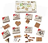 Knobelspiel Klassiker Sets - 8 Geschicklichkeitsspiele in Geschenkverpackung - incl. Lösung (Set 3)