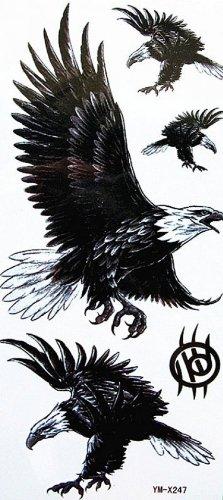 Faux faux tatouages étanches - animaux noirs ~ aigle
