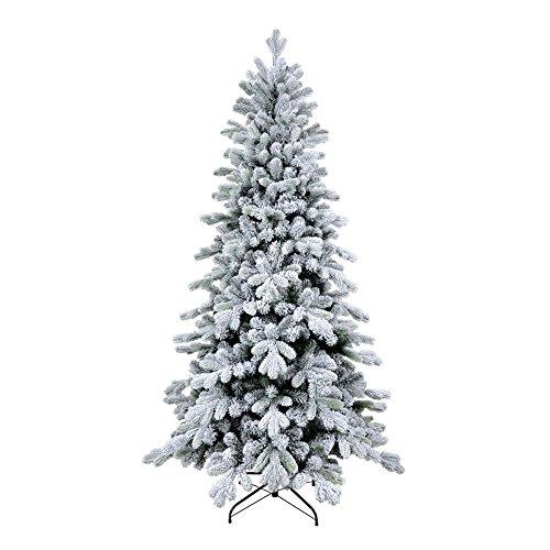 XONE Albero di Natale Cervino Slim 210 cm - Innevato e folto | Albero Bianco Artificiale in PVC e PE Effetto Real Touch