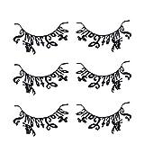 Lurrose 3 paia di carta tagliate ciglia farfalla carta nera ciglia a tema ciglia finte a tema halloween per donna trucco da donna