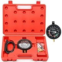 FreeTec Bomba de combustible y vacío Tester Comprobador de presión Manómetro, válvula para carburador Kit coche camión