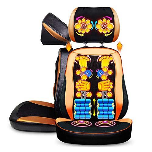 AMDSF Schultermassagegerät - Verstellbare Massageauflage, Entspannung Für Schulter-, Rücken- Und Oberschenkelmuskulatur Mit Shiatsu-, Rollen- Und Vibrationsmassage Mit Wärme