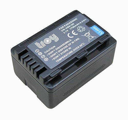 troy Akku für Panasonic VW VBK180 E für HDC HS60 HS80 SD40 SD60 SD66 SD80 SD90 SD99 SDX1 TM40 TM55 TM60 TM80 TM90 SDR H85 H95 H100 H101 S45 S50 S70 S71 T50 T55 T70 T71 T76 HC V707 V500 V100 V10 - Troy-akku