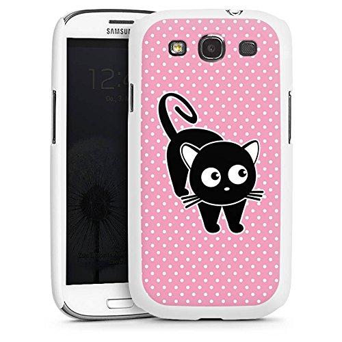 DeinDesign Hülle kompatibel mit Samsung Galaxy S3 Handyhülle Case Katze Punkte Cat