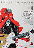 TheConcertPoster Queens of The Stone Age - Villains Tour, Dresden 2018 | Konzertplakat | Poster Original