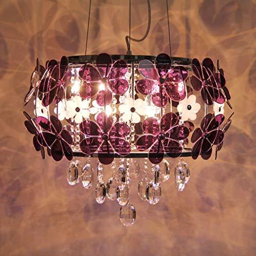 wykbm Moderno Minimalista Lámpara de Cristal Lámpara de Dormitorio Principal Habitación de Matrimonio Lámpara de Techo Jardín Restaurante Lámpara Personalidad Lámparas Creativas -Power UK