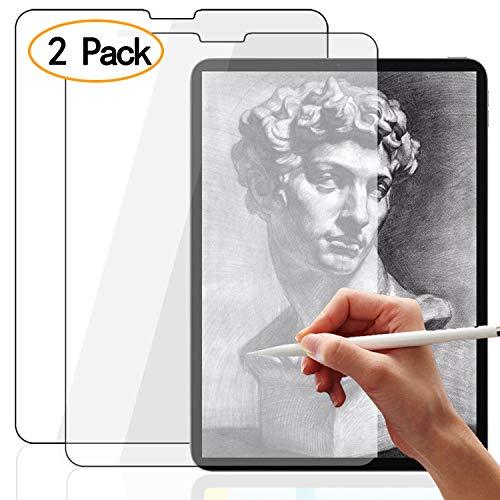[2 Stück] Schutzfolie für iPad Pro 11,Paper-Feel Matt Folie für iPad Pro 2018 12.9/10.5/9.7 Zoll, Schreibe, Zeichne und Skizziere wie auf Papier [Mit Apple Pencil,Face ID] - Transparent -