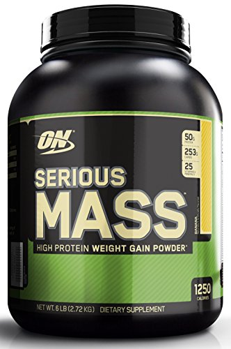 Optimum Nutrition (ON) Serious Mass - 6 lbs (Banana)  available at amazon for Rs.3070