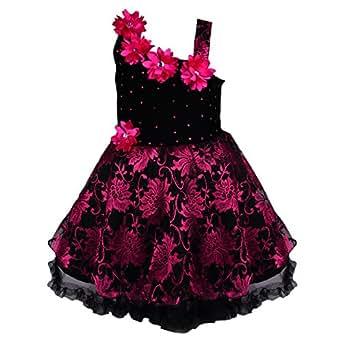 Wish Karo Baby Girl's Net Frock Dress (Purple, 0-3 Months)
