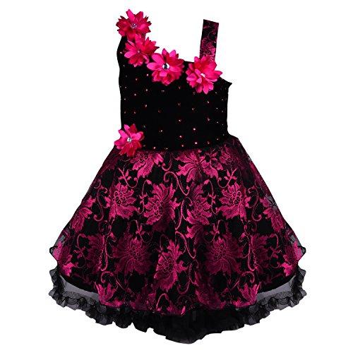Wish Karo baby girls Party Wear Frock Dress DN fe1102pnk