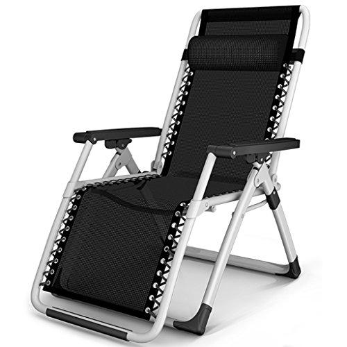 SjYsXm-Recliners chair Klappstuhl Sommer Siesta Schwarz Lounge Stuhl Büro Portable Beach Chair Lounge Stuhl Schwangere Stuhl Siesta Stuhl (Beach-chair-position 4)