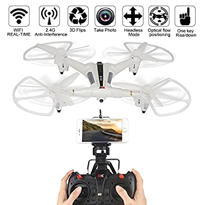Dazhong XK X300-W drone Quadcopter, 2.4G 5CH 6-Axis Gyro Brushed RC Drone With 720P Wide Angle Camera Wifi FPV RC Quadcopter Optical Flow Positioning