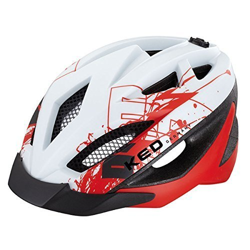 ked-gekko-casco-per-bicicletta-bianco-rosso-opaco-m-52-58-cm