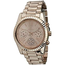 Zzero ZZ5011L Quandrante Rose Gold Ladies Quartz Stainless Steel Strap
