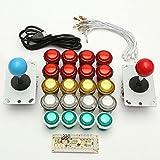 Rishil World Double Arcade Stick Video Game Joystick Controller Black Acrylic for PC USB