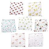 Manyo Baby Taschentuch Baby SquareTowel Baby-Gesichtstuch Lätzchen Abwischen Tuch, 6 Schichten