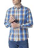 Urban Scottish Men's Checkered Slim Fit Cotton Casual Shirt